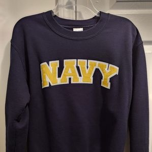 US Navy embroidered Navy Blue Crew Neck Sweater